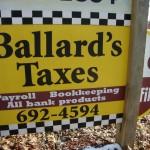 Ballard's Taxes